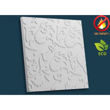 Листопад 51х51, декоративная гипсовая 3D панель