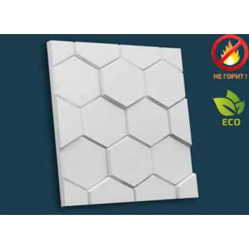 Медовая сота 51х51, декоративная гипсовая 3D панель