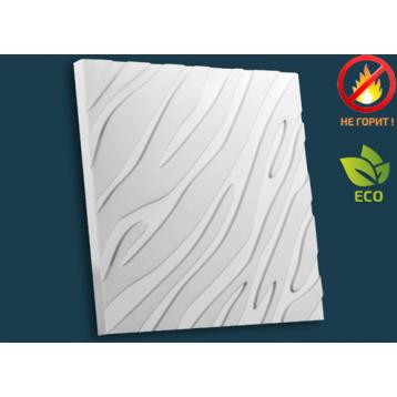 Зебра 51х51, декоративная гипсовая 3D панель