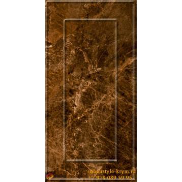 Букингем 3Д коричневый  30х60 керамин плитка настенная