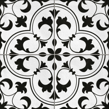 Sevilla пэчворк, белый Cersanit 42х42, глазурованный керамогранит