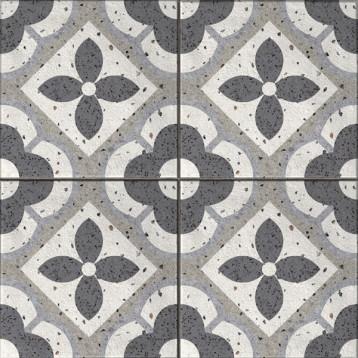 Sevilla пэчворк, серый Cersanit 42х42, глазурованный керамогранит