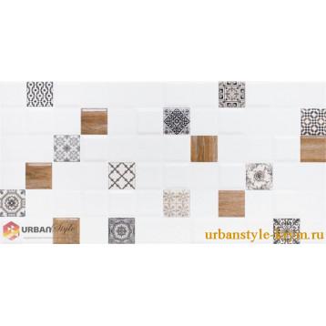 Astrid 1 белый декор lb-ceramics 20х40, плитка настенная