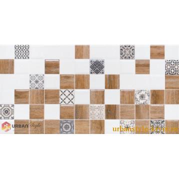 Astrid 2 белый декор lb-ceramics 20х40, плитка настенная