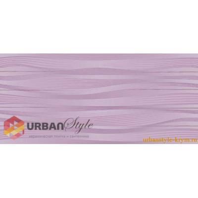 Batik темно фиолетовый 23х50 intercerama, плитка настенная