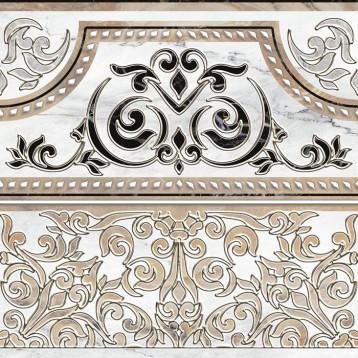 Arina бел. прямой 41,8х41,8, декор напольный