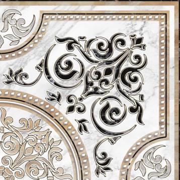 Arina бел. угол 41,8х41,8, декор напольный