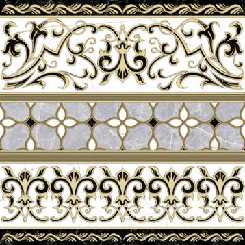 Marmara 61х61 alma ceramica, напольный декор прямой