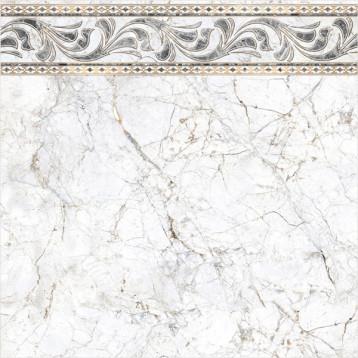 Pareto 61х61 alma ceramica, глянцевый напольный декор прямой