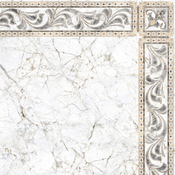 Pareto 61х61 alma ceramica, глянцевый напольный декор угловой