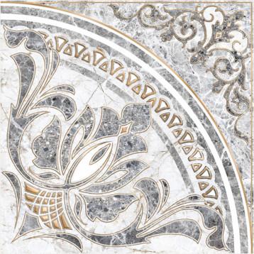 Pareto 61х61 alma ceramica, глянцевый напольный декор панно