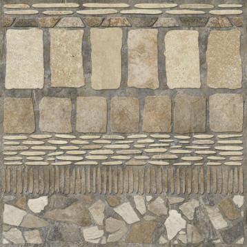 Stail камень прямой 60х60 alma ceramica, глазурованный керамогранит ректификат