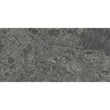 Brecia Adonis Dark 60x120 темно-серый глянцевый, обрезной глазурованный керамогранит
