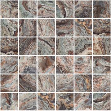 Brouni коричневый Laparet 30х30, настенная мозаика