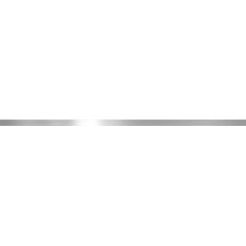 Металл серебро глянец 1,6х60, настенный бордюр