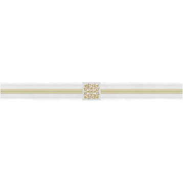 Royal белый Laparet 6,3х60, настенный бордюр