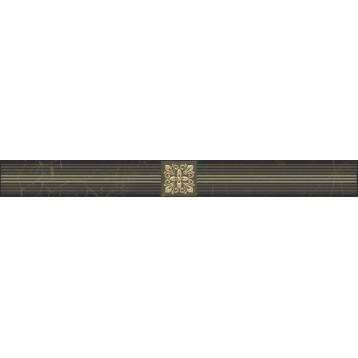 Royal черный Laparet 6,3х60, настенный бордюр