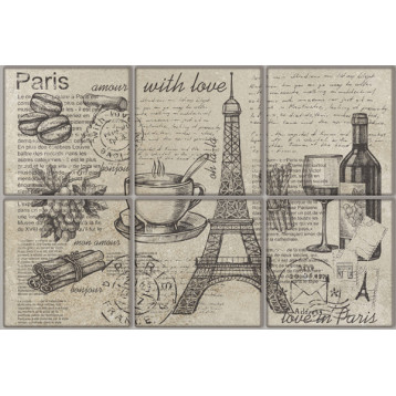 Vintage Voyage Paris 20х30, настенный декор