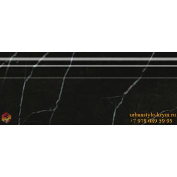 Absolute Modern черный 30x12 Golden Tile, настенный бордюр