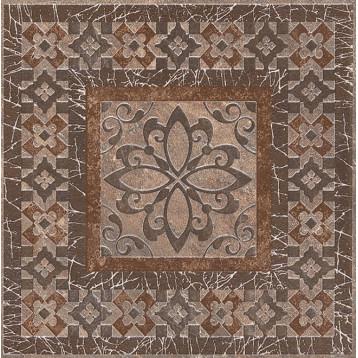 Бромли коричневый 19,6х19,6 Kerama Marazzi, напольная вставка