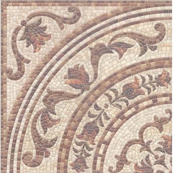 Пантеон ковер угол 40,2х40,2 Kerama Marazzi, напольный декор лаппатированный