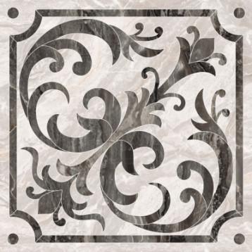 Bergamo классический микс декор Теплая гамма 7ЛПР vitra 60х60, глазурованный керамогранит