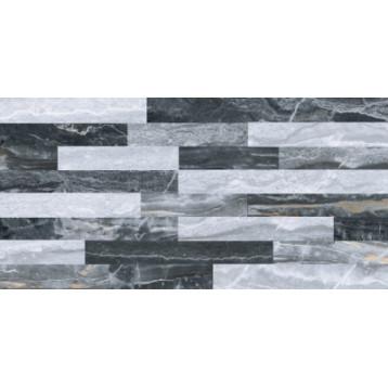 Bergamo 3DМикс Декор Холодная гамма 7ЛПР vitra 30х60, глазурованный керамогранит