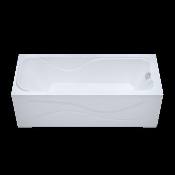 Джулия 160х70 Тритон, белая прямоугольная акриловая ванна