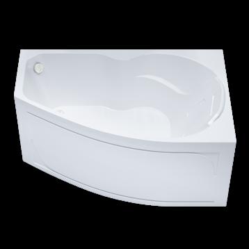 Бриз 150х95 Тритон, белая асимметричная акриловая ванна