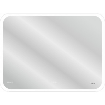 LED 070 pro 80*60 Cersanit, зеркало с подсветкой, сенсор, антизапотевание, часы