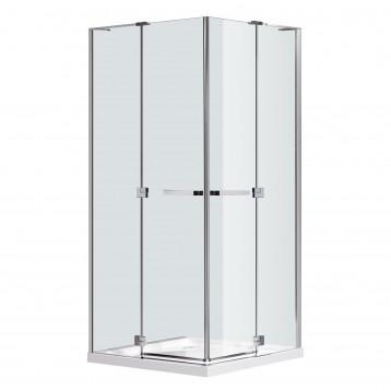 RUBIK Eger Душевое ограждение 100*100*190см (стекла+двери), распашные двери, стекло прозрачное 8 мм (без поддона)