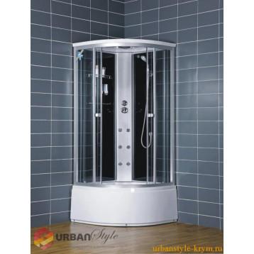 Душевой бокс 100x100 Loranto CS-001, глубокий поддон (42 см), тонированное стекло