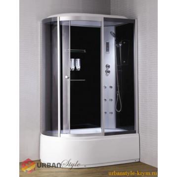 Душевой бокс 120x85 Loranto CS-007-1, глубокий поддон (45 см), тонированное стекло