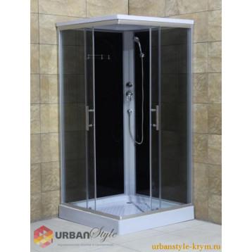 Душевой бокс 100x100 Loranto CS-8072, низкий поддон, прозрачное стекло