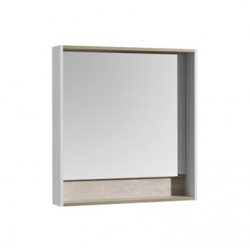 Капри 80 Бетон Пайн Акватон, зеркальный шкаф