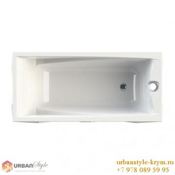 Фелиция radomir, белая прямоугольная акриловая ванна 168x70x64+панель фронтальная