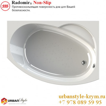 Монти radomir, белая прямоугольная акриловая ванна 150x105x66+панель фронтальная