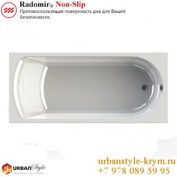 Николь radomir, белая прямоугольная акриловая ванна 180x80x65+панель фронтальная