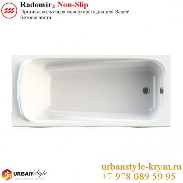 Роза radomir, белая прямоугольная акриловая ванна 169x77x61+панель фронтальная