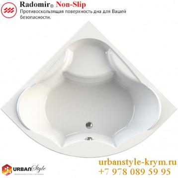 Сандра radomir, белая симметричная акриловая ванна 149x149x68+панель фронтальная