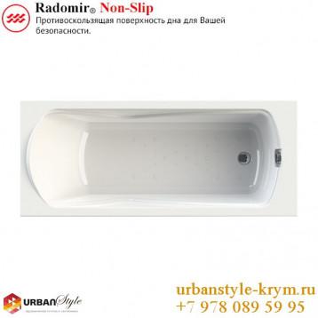 Сильвия radomir, белая прямоугольная акриловая ванна 168x70x64+панель фронтальная