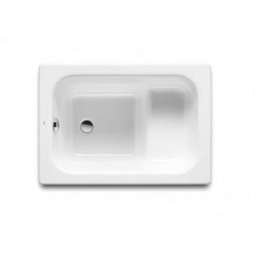 Contessa 100х70 Roca, белая прямоугольная стальная ванна