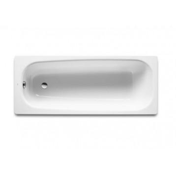Continental 150х70 Roca, белая прямоугольная чугунная ванна с антискользящим покрытием