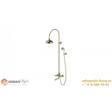 ART душевая колонка со смесителем для ванны бронза