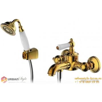 ART смеситель для ванны и душа с коротким изливом бронза