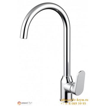 ELER смеситель для кухни с высоким поворотливым изливом, хром, 35 мм
