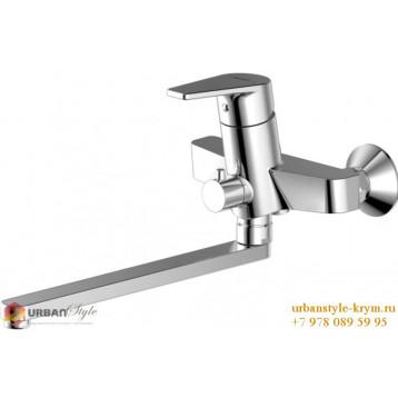 LINE смеситель для ванны и душа излив 300мм хром