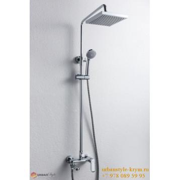 OPAL душевая колонка квадратный верхний душ, смеситель с  поворотным изливом хром