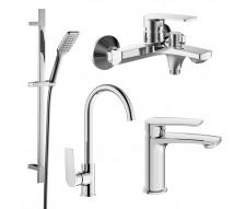 KAMPA набор смесителей (4 в 1) для ванны и кухни
