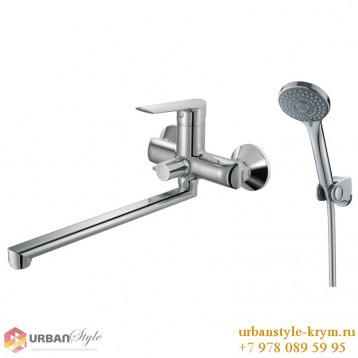 BLANICE смеситель для ванны, L-излив 30 см, хром, 35 мм